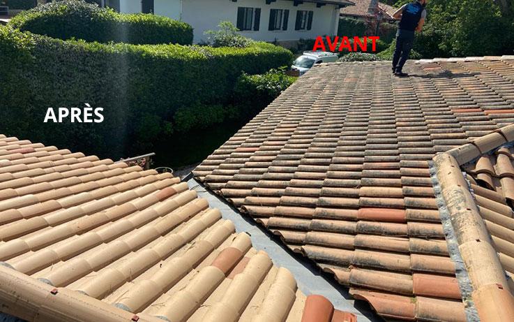 Antimousse toiture, nettoyage de toiture avec Bassin Toitures sur Arcachon